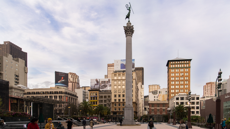 Union Square and the Monument in San Francisco